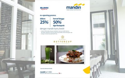 Re-opening Promo 25% + 50% with Mandiri